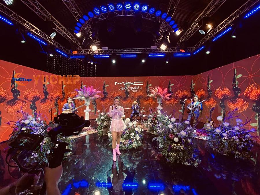YUCHIP 480pcs P3.91 Outdoor Pantallas LED In Chile TV Studio