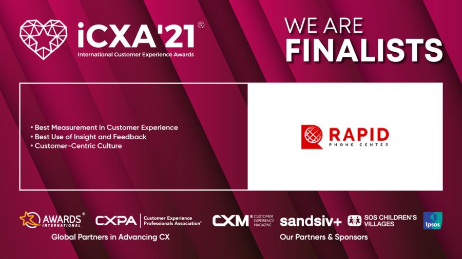 Rapid Phone Center Named a Finalist for Three International Customer Experience (ICXA'21®) Awards