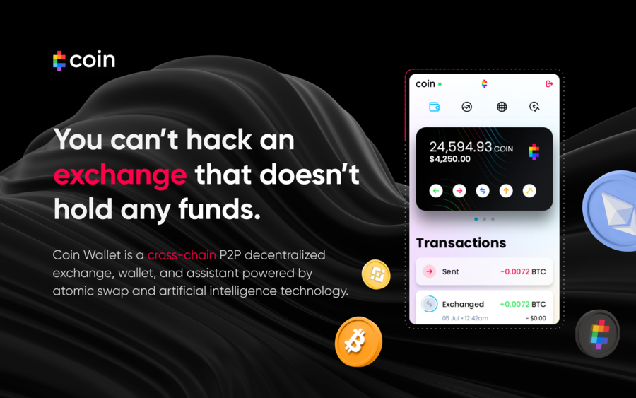 Coin Launches the Coin Wallet — A Browser Extension with an Integrated Cross-Chain Decentralized Exchange, Wallet, and Assistant for Digital Assets