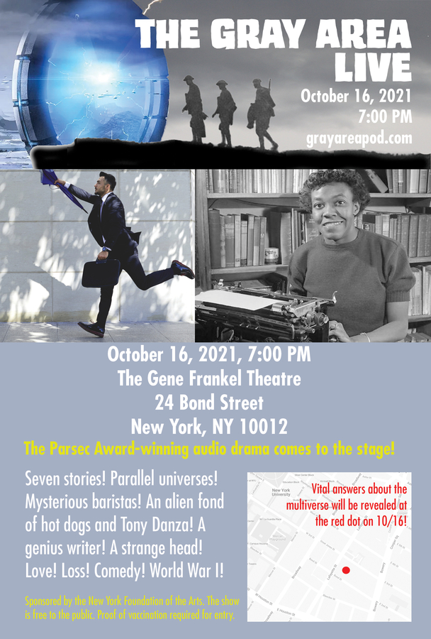 """Award-Winning Audio Drama """"THE GRAY AREA"""" Hits The Stage For Rare Live Performance"""