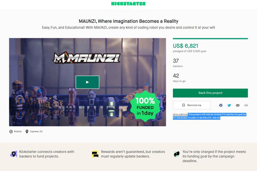 Goldrabbit starts Kickstarter Funding for Customized Modular Coding Robot MAUNZI!