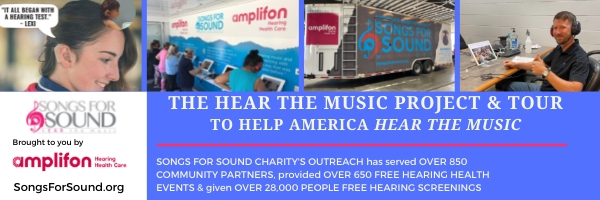 Songs For Sound & Amplifon Hearing Health Care Team Up For 'Hear The Music Project & Tour' Making Stops In Texas In October