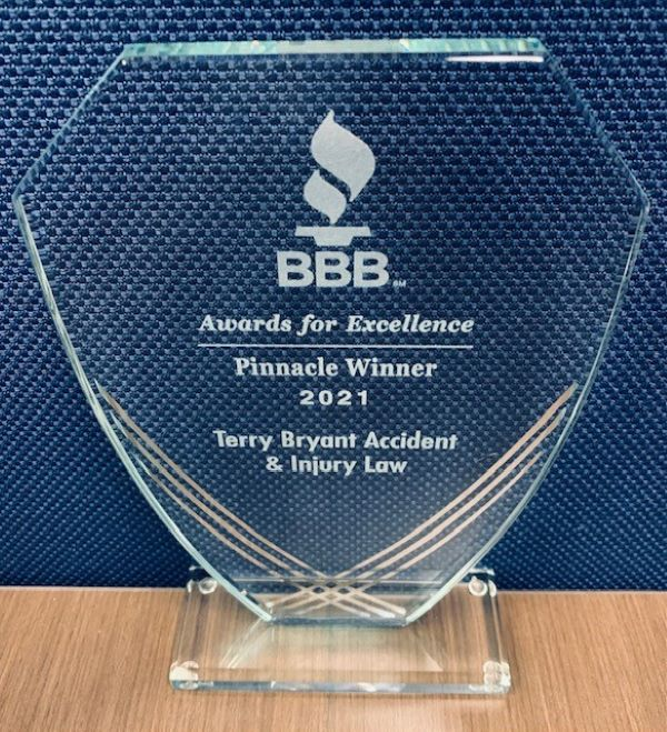 Terry Bryant Accident and Injury Law Firm Receives the 2021 BBB Pinnacle Award for Excellence