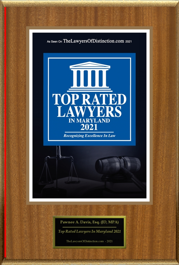 """Pawnee A. Davis Selected For """"Top Rated Lawyers In Maryland 2021"""""""
